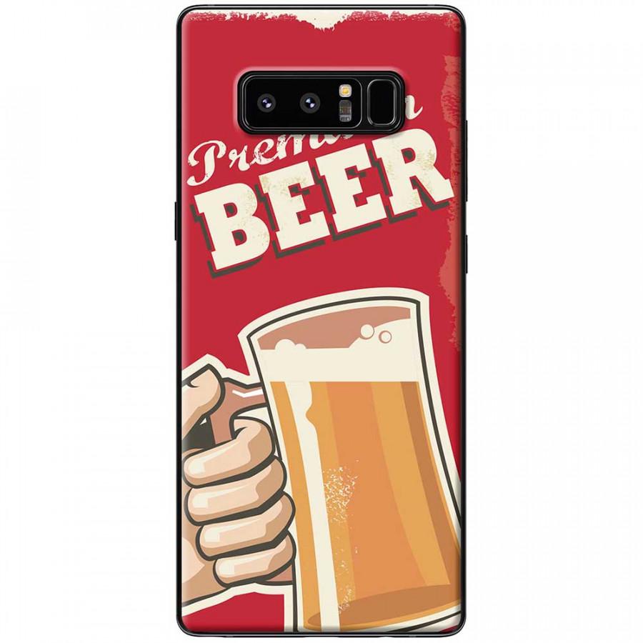 Ốp lưng dành cho Samsung Galaxy Note 8 mẫu Ly bia nền đỏ