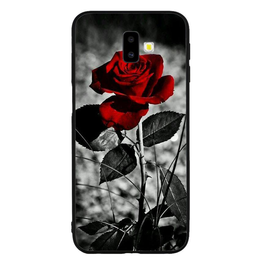 Ốp lưng viền TPU cho điện thoại Samsung Galaxy J6 Plus -Rose 08