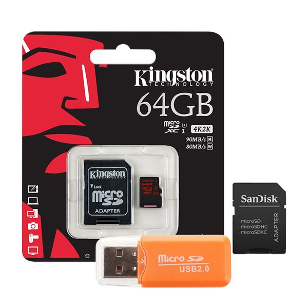 Combo Thẻ Nhớ Kingston Micro SDXC 64GB (90MB/s) + Adapter + Đầu Đọc Thẻ Micro - Hàng Nhập Khẩu - 1353280 , 6392190130440 , 62_6211705 , 1550000 , Combo-The-Nho-Kingston-Micro-SDXC-64GB-90MB-s-Adapter-Dau-Doc-The-Micro-Hang-Nhap-Khau-62_6211705 , tiki.vn , Combo Thẻ Nhớ Kingston Micro SDXC 64GB (90MB/s) + Adapter + Đầu Đọc Thẻ Micro - Hàng Nhập K