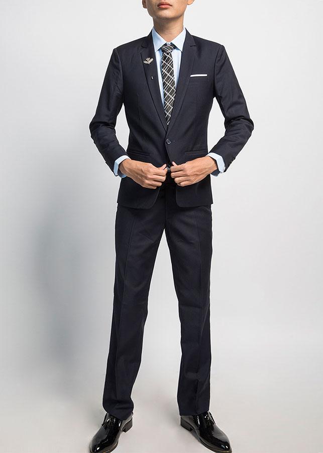 Bộ Suit Nam Một Nút T905 - Xanh Đen