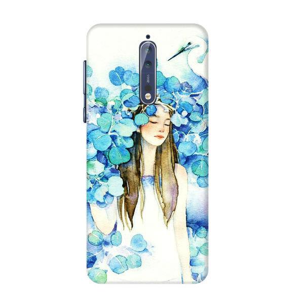 Ốp Lưng Dành Cho Điện Thoại Nokia 8 - Cô Gái Lá Xanh