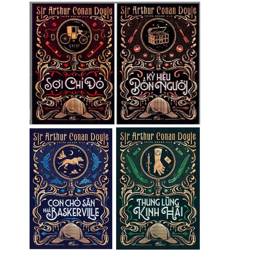 Combo Tác Giả Sir Arthur Conan Doyle (Trọn Bộ 4 Cuốn) : Sợi Chỉ Đỏ + Thung Lũng Kinh Hãi + Ký Hiệu Bốn Người + Con...