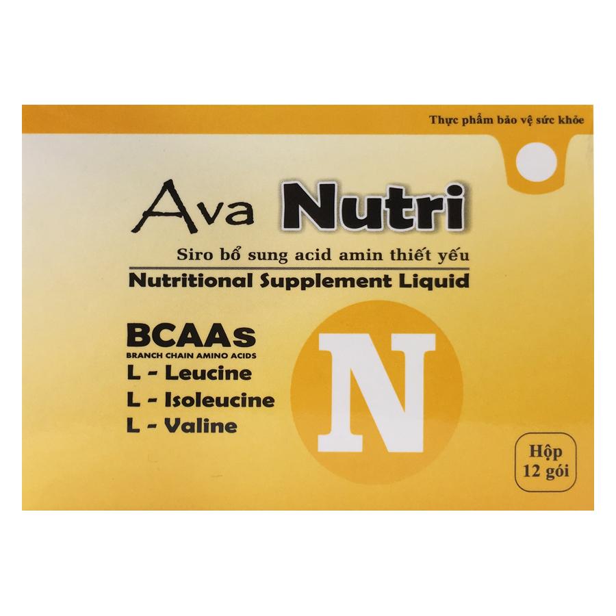 Thực Phẩm Chức Năng Ava Nutri – BCAA (Hộp 12 gói) - 1034768 , 6122939983248 , 62_3248799 , 400000 , Thuc-Pham-Chuc-Nang-Ava-Nutri-BCAA-Hop-12-goi-62_3248799 , tiki.vn , Thực Phẩm Chức Năng Ava Nutri – BCAA (Hộp 12 gói)