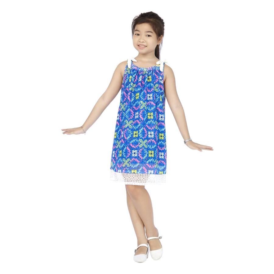 Đầm Ren Xanh Genii Kids - Xanh Dương