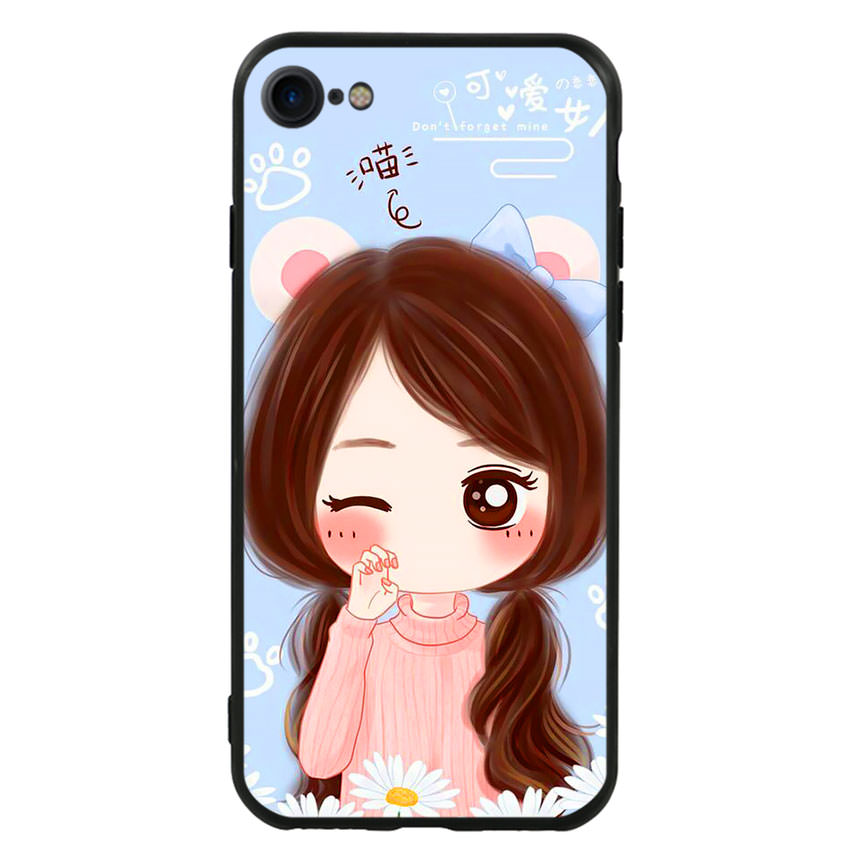Ốp lưng viền TPU cao cấp cho điện thoại Iphone 7 / Iphone 8 -Baby Girl