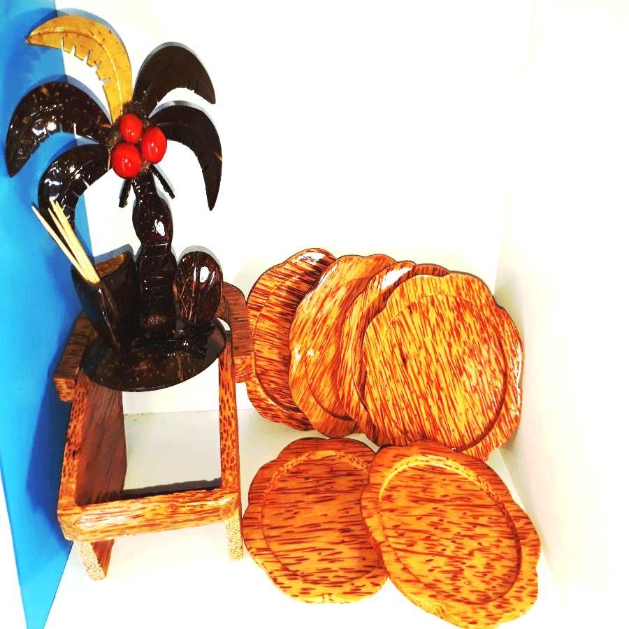 Combo 1 bộ 6 đế lót ly hình hoa mai bằng gỗ dừa mỹ nghệ + 1 dụng cụ để tăm hình cây dừa làm bằng gáo dừa - 1359212 , 3198561437346 , 62_5993321 , 209000 , Combo-1-bo-6-de-lot-ly-hinh-hoa-mai-bang-go-dua-my-nghe-1-dung-cu-de-tam-hinh-cay-dua-lam-bang-gao-dua-62_5993321 , tiki.vn , Combo 1 bộ 6 đế lót ly hình hoa mai bằng gỗ dừa mỹ nghệ + 1 dụng cụ để tăm h