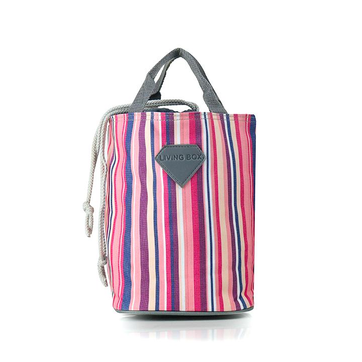 Túi giữ nhiệt living box sọc hồng