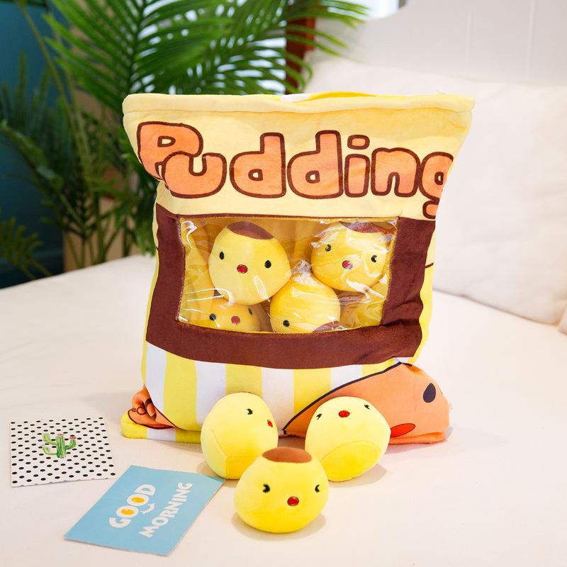 Túi Snack Bánh Pudding Trứng Siêu Dễ Thương 50x36cm