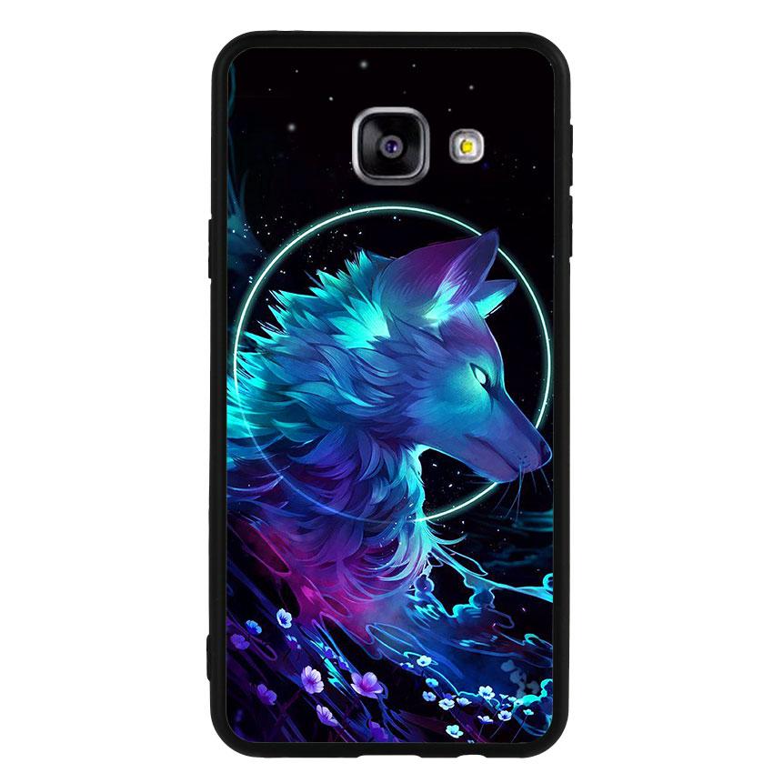 Ốp lưng nhựa cứng viền dẻo TPU cho điện thoại Samsung Galaxy A3 2016 - Wolf