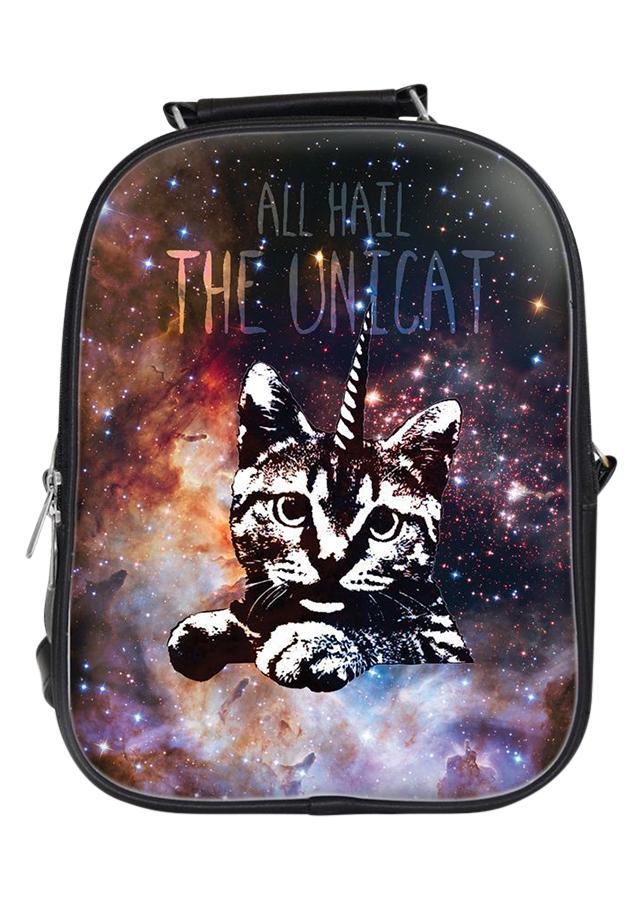 Balo Unisex In Hình Mèo Có Sừng Galaxy - BLAA230