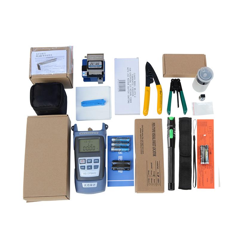 Bộ dụng cụ làm cáp mạng cao cấp gồm: Máy đo công suất quang đa năng HX + Dụng cụ cắt sợi quang FC 6S + Bút soi...