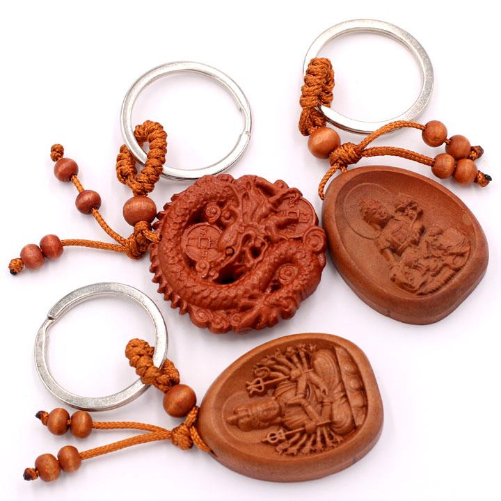 Combo 3 móc khóa Thiên Thủ Thiên Nhãn - Phổ Hiền Bồ Tát - Thần Long Phong Thủy - phù hộ, độ trì