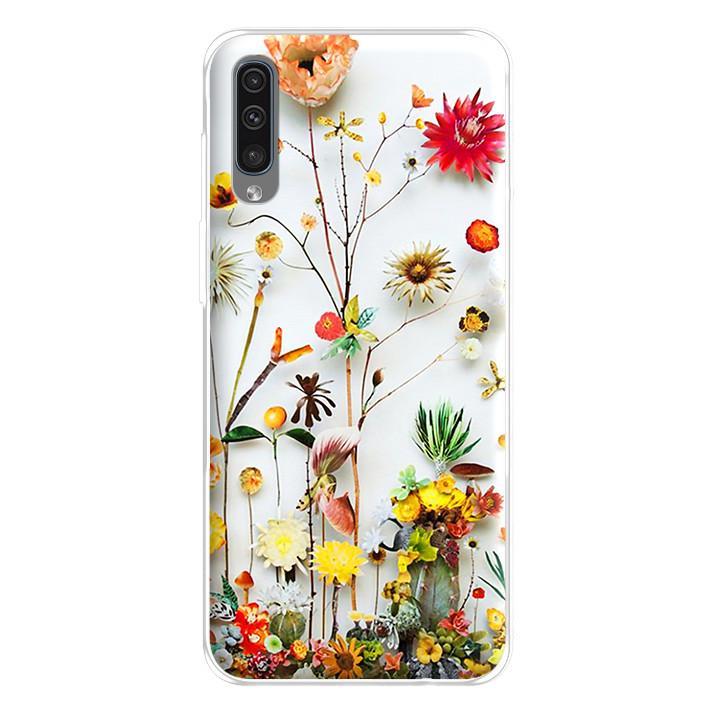 Ốp lưng dẻo cho điện thoại Samsung Galaxy A50 - 224 0065 FLOWER11
