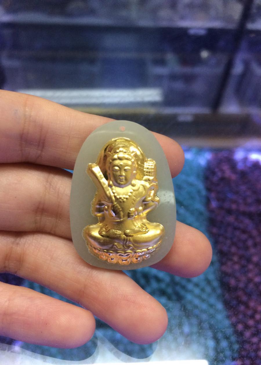 Mặt dây chuyền Ngọc Mạ Vàng dành cho người tuổi Sửu - Dần.