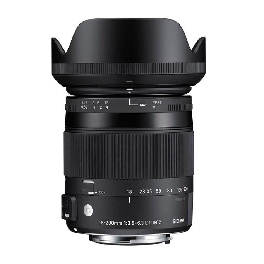 Ống Kính SIGMA 18-200mm F3.5-6.3 DC MACRO OS HSM (Ống Kính Nikon Bayonet) - Hàng nhập khẩu