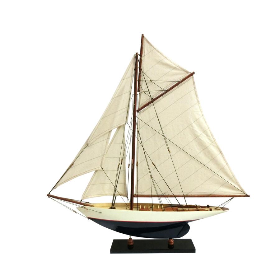 Mô hình du thuyền đua gỗ Penduick (thân 50cm - sơn trắng/xanh) - 5728395501036,62_6416843,705000,tiki.vn,Mo-hinh-du-thuyen-dua-go-Penduick-than-50cm-son-trang-xanh-62_6416843,Mô hình du thuyền đua gỗ Penduick (thân 50cm - sơn trắng/xanh)