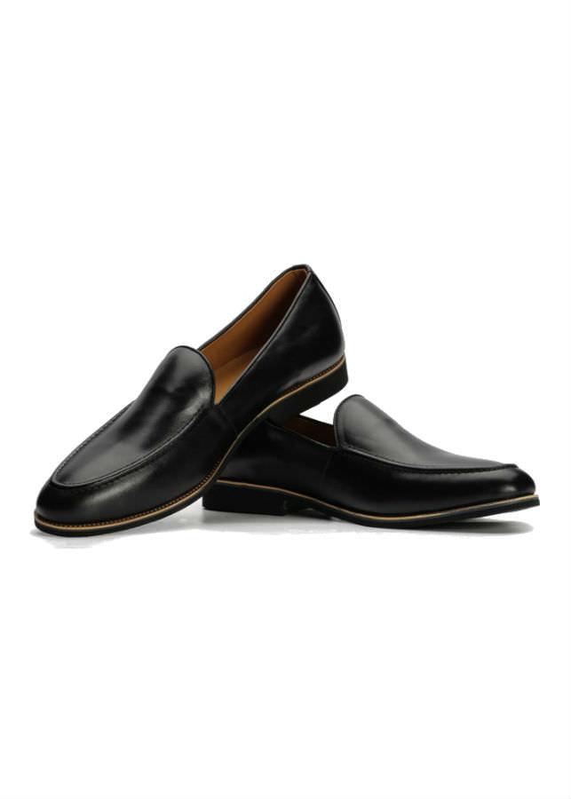 Giày Lười Nam Da Bò G203D - Đen