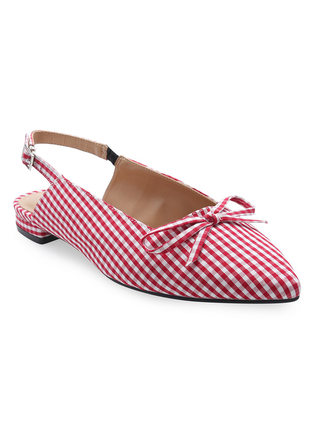 Giày Búp Bê Girlie Mũi Nhọn Phối Nơ S12004-Sọc Đỏ - 976842 , 9967141820342 , 62_5558491 , 397000 , Giay-Bup-Be-Girlie-Mui-Nhon-Phoi-No-S12004-Soc-Do-62_5558491 , tiki.vn , Giày Búp Bê Girlie Mũi Nhọn Phối Nơ S12004-Sọc Đỏ