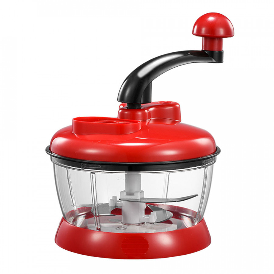 Slicer Cutter Vegetable Food Chopper Convenient Red ABS+Stainless Steel 4 Blades Multifunctional