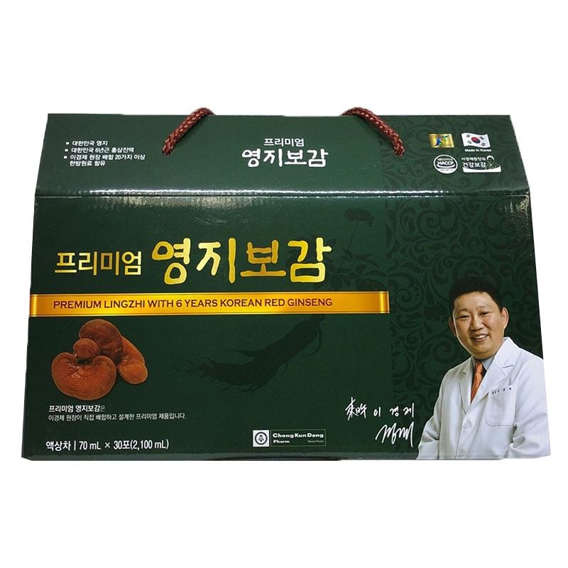 Chiết xuất Linh Chi và Hồng sâm 6 năm tuổi ChongKunDang (70ml x 30 gói)