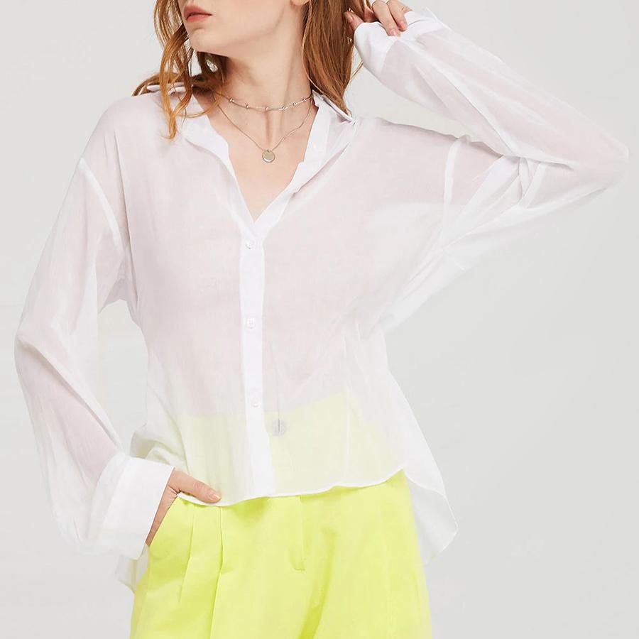 STORETS Millie Back-Slit Sheer Shirt - 16413303 , 6939126839451 , 62_24605897 , 1578000 , STORETS-Millie-Back-Slit-Sheer-Shirt-62_24605897 , tiki.vn , STORETS Millie Back-Slit Sheer Shirt