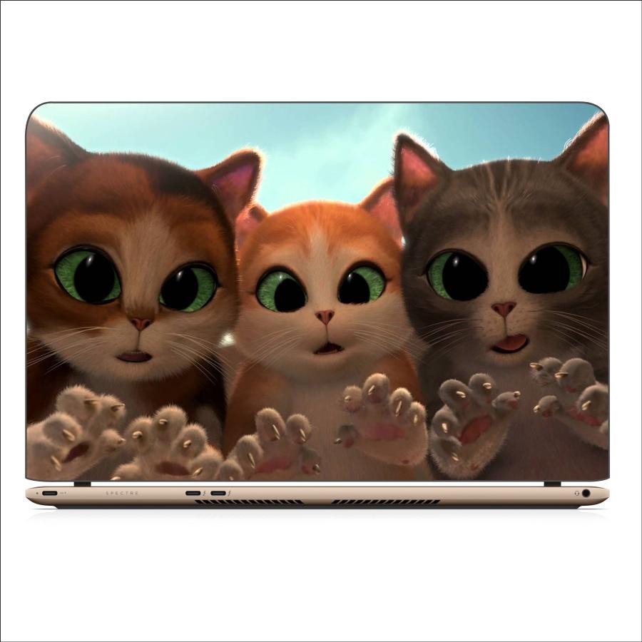 Miếng Dán Skin In Decal Dành Cho Laptop - Mèo Dihia 5 - Mã 061118