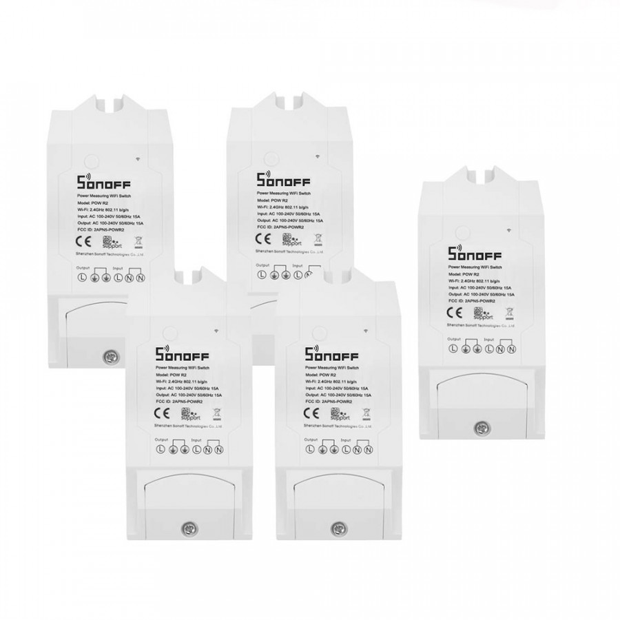 5PCS Sonoff Pow R2 ITEAD Smart Wifi Switch Wireless ON/Off Controller With Real Time Power Consumption Measurement - 2370474 , 4205563262018 , 62_15521133 , 2091000 , 5PCS-Sonoff-Pow-R2-ITEAD-Smart-Wifi-Switch-Wireless-ON-Off-Controller-With-Real-Time-Power-Consumption-Measurement-62_15521133 , tiki.vn , 5PCS Sonoff Pow R2 ITEAD Smart Wifi Switch Wireless ON/Off Co