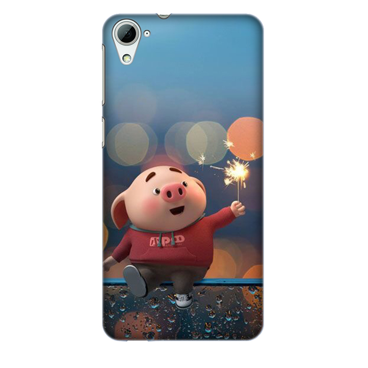 Ốp lưng nhựa cứng nhám dành cho HTC Desire 826 in hình Heo Pháo Bông