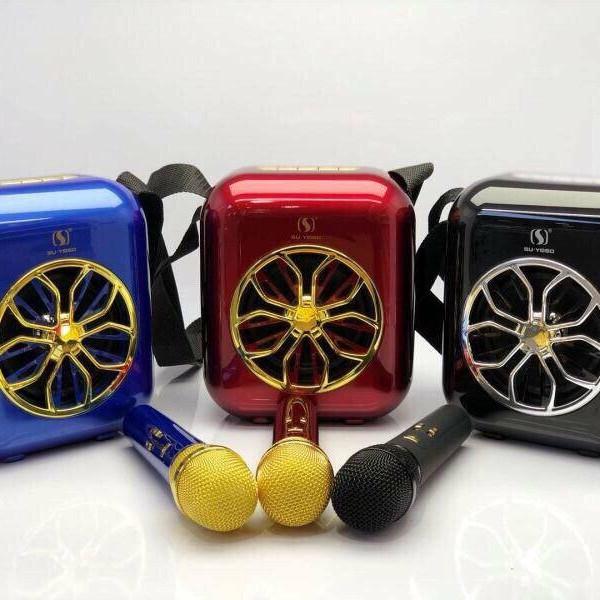 Loa Bluetooth Karaoke YS-A20 xách tay kèm Mic không dây
