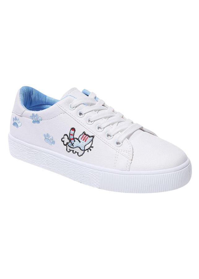 Giày Thể Thao Nữ Thêu Mèo (Mèo Cạnh)