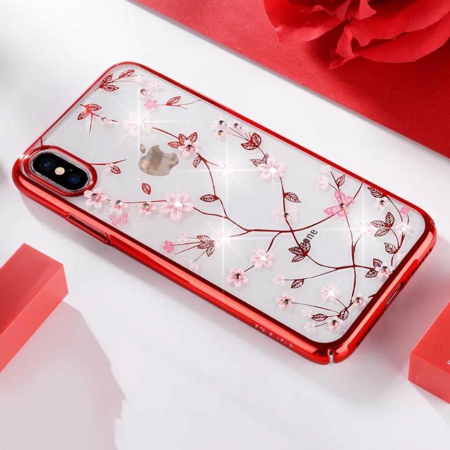 Ốp lưng iphone X, XS MAX, XR, 7 Plus, 8 Plus hoa văn đính đá chất lượng cao cực đẹp