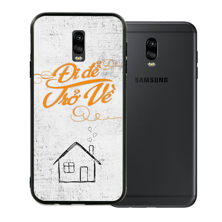 Ốp lưng viền TPU cao cấp dành cho Samsung Galaxy J7 Pro - Đi Để Trở Về