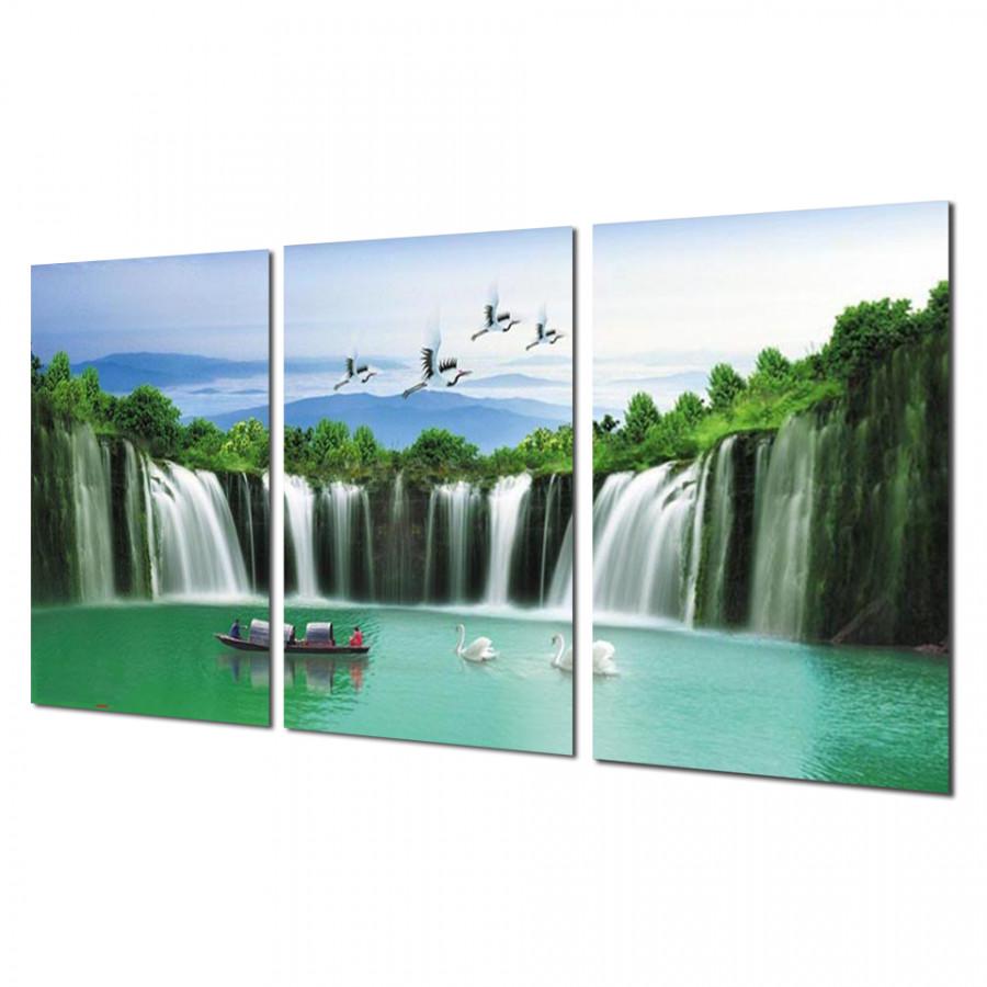 Tranh Treo Tường Thác nước sơn thủy FJSSA_014- Tranh treo tường đẹp