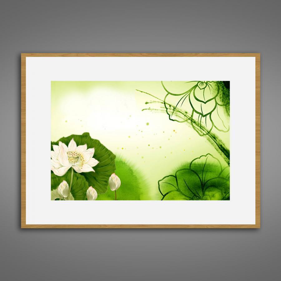 Khung tranh Canvas đơn hoa lá 40