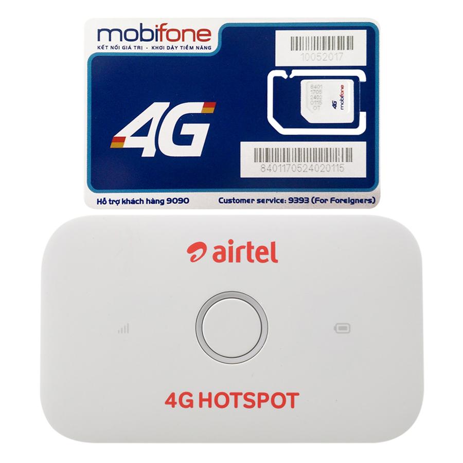 Bộ Phát Wifi Di Động Huawei E5573Cs-609 4G 150Mbps - Hàng Nhập Khẩu + Sim 3G/4G Mobifone 4GB/Tháng Trọn Gói 12 Tháng Không...