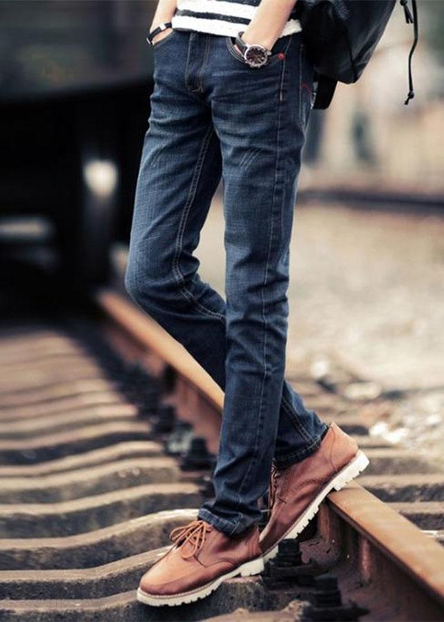 Quần Jeans Nam Ống Suông Wax Nhẹ Phong Cách Hàn Quốc