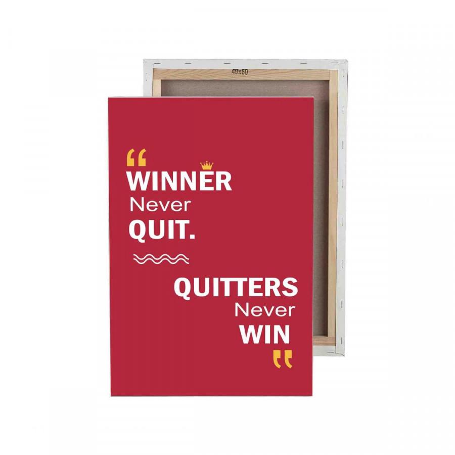 Tranh trang trí in Poster ( không khung ) Winner never quit - 5170058 , 3427027393262 , 62_16947373 , 517500 , Tranh-trang-tri-in-Poster-khong-khung-Winner-never-quit-62_16947373 , tiki.vn , Tranh trang trí in Poster ( không khung ) Winner never quit