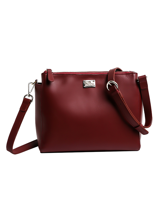 Túi Da Thật Emeral Crossbody Bag Gosto GDB000931DRE21 (21 x 25 cm) - Đỏ Đậm