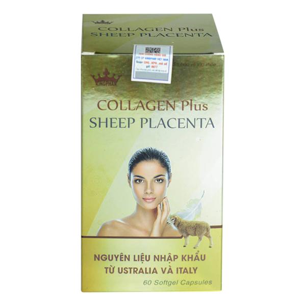 Thực Phẩm Chức Năng Bổ Sung Collagen Làm Đẹp Da Kingphar Collagen Plus Sheep Placenta (60 Viên/ Lọ)