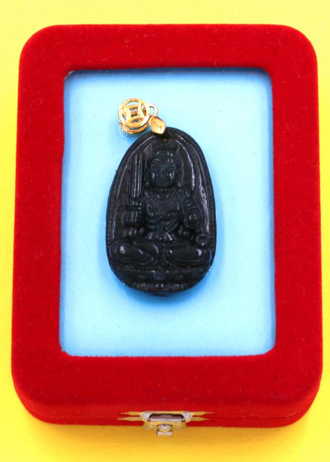 Mặt Phật Bất động minh vương cẩm thạch 3.6cm kèm hộp nhung