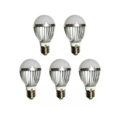 Đèn LED búp nhôm tiết kiệm điện TQ 5W bộ 5 cái (Vàng ấm)