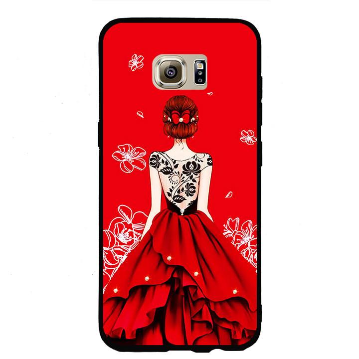 Ốp lưng nhựa cứng viền dẻo TPU cho điện thoại Samsung Galaxy S7 Edge - Girl 05