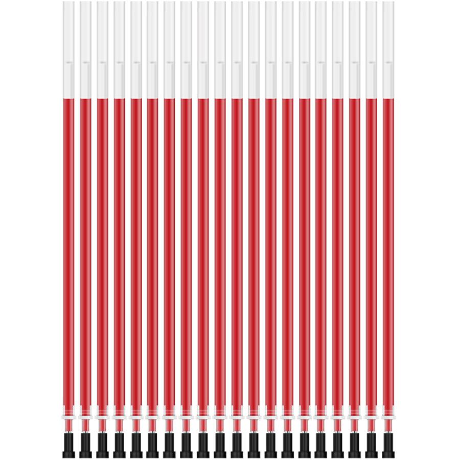 Effective (deli) A702 full needle 0.5mm red pen pen / pen / pen pen for the core 20 loaded
