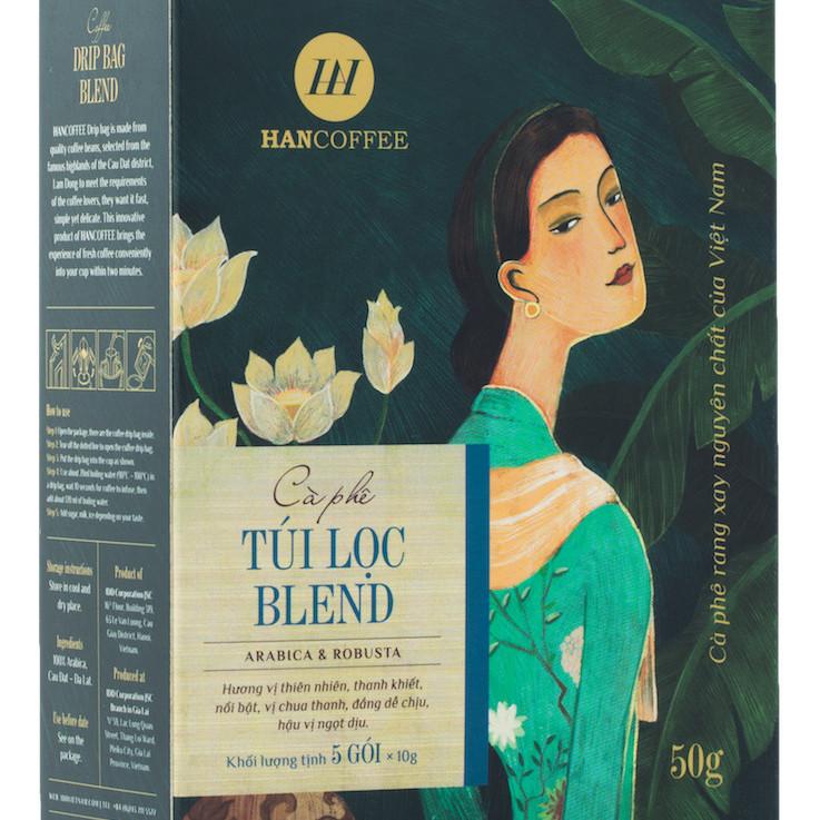 Cà phê phin giấy túi lọc cao cấp HANCOFFEE Drip Bag Blend (hộp 5 gói) - 1775290 , 7358843654809 , 62_12693589 , 66000 , Ca-phe-phin-giay-tui-loc-cao-cap-HANCOFFEE-Drip-Bag-Blend-hop-5-goi-62_12693589 , tiki.vn , Cà phê phin giấy túi lọc cao cấp HANCOFFEE Drip Bag Blend (hộp 5 gói)