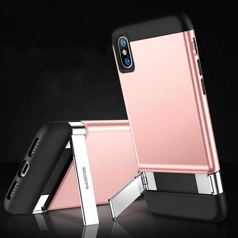 Ốp Lưng Nhựa Dẻo Viền Hai Đầu Có Giá Đỡ Dành Cho iPhone X ESR