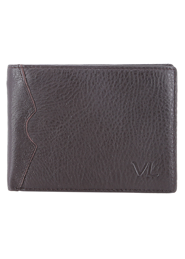 Ví Da Nam VL Leather VL0031 (12 x 10 cm) - Nâu