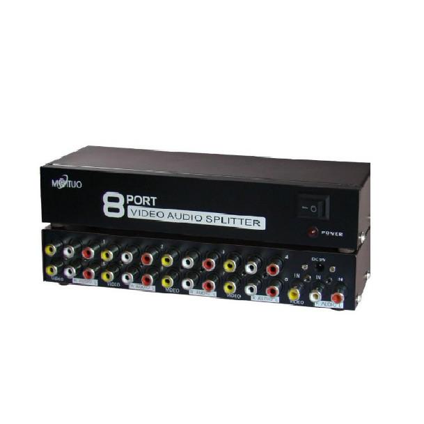 Bộ chia tín hiệu AV (Video  Audio) 1 ra 8 cổng MT-108AV MT-VIKI - Hãng Chính Hãng