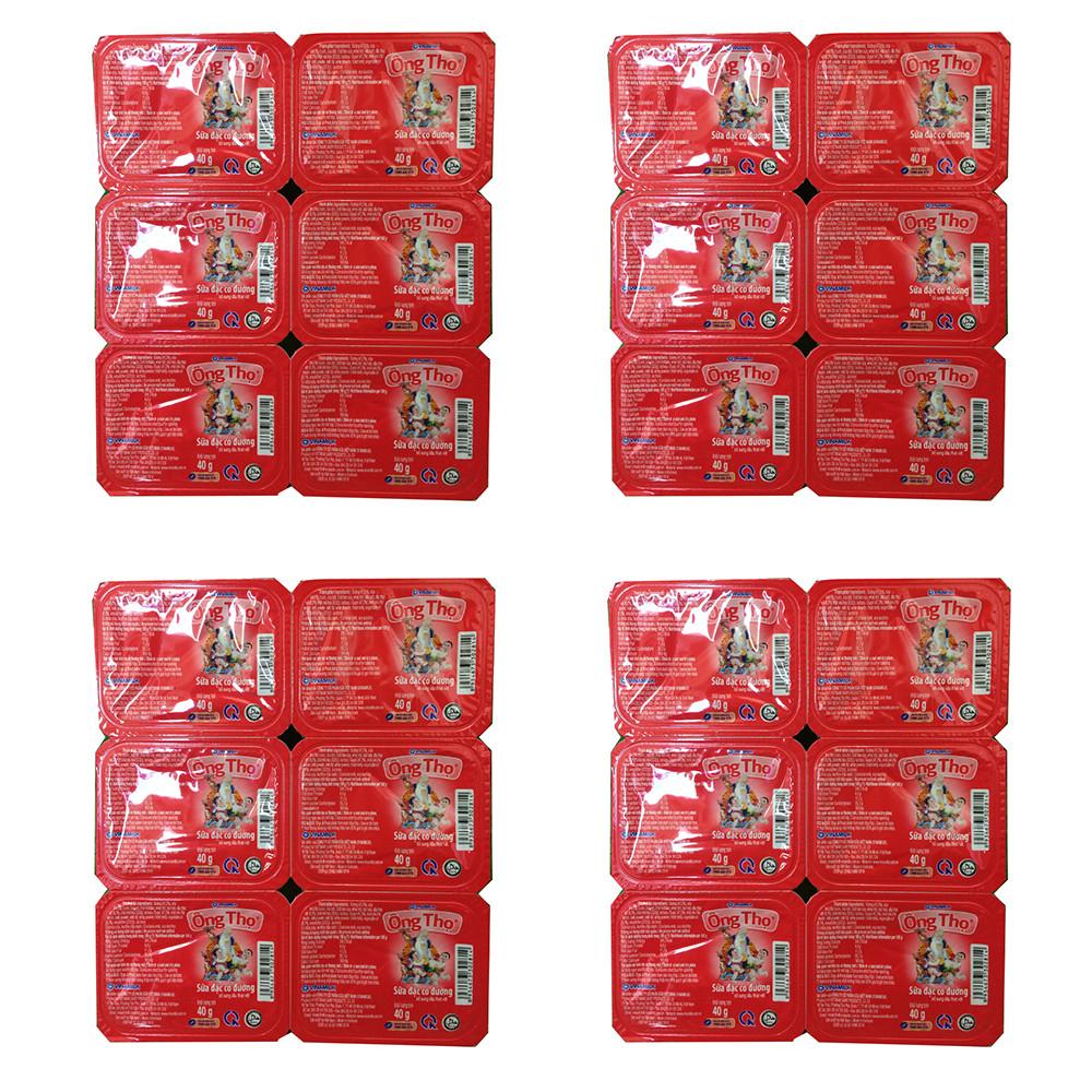 COMBO 4 VỈ SỮA ĐẶC CÓ ĐƯỜNG ÔNG THỌ ĐỎ - VỈ 6 HỘP X 40G - 18660299 , 1451083723123 , 62_23919512 , 120000 , COMBO-4-VI-SUA-DAC-CO-DUONG-ONG-THO-DO-VI-6-HOP-X-40G-62_23919512 , tiki.vn , COMBO 4 VỈ SỮA ĐẶC CÓ ĐƯỜNG ÔNG THỌ ĐỎ - VỈ 6 HỘP X 40G