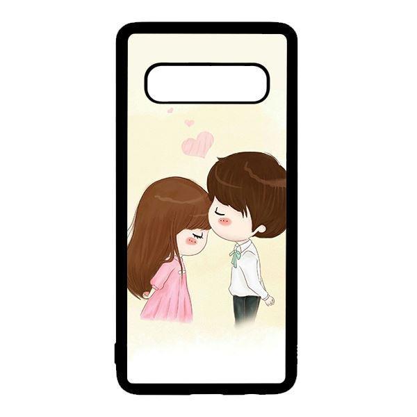 Ốp lưng điện thoại dành cho Samsung S10 Plus Anime Hôn Trán