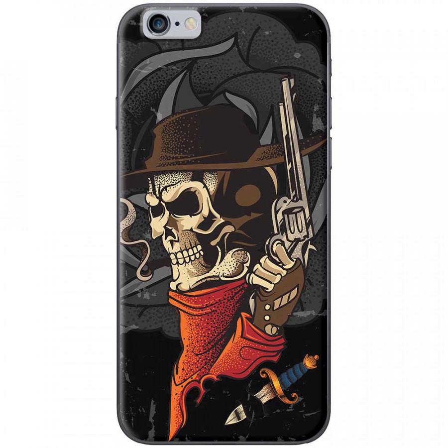 Ốp lưng dành cho iPhone 6 Plus, iPhone 6S Plus mẫu Đầu lâu súng